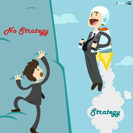 business strategy and no strategy.